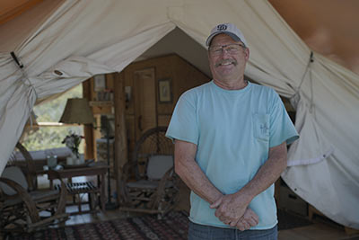Glamping Hub host with safari tent