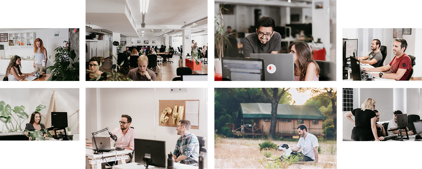 Collage of Glamping Hub Office in Seville, Spain